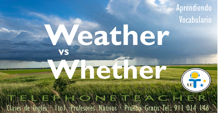 Weather vs whether significado